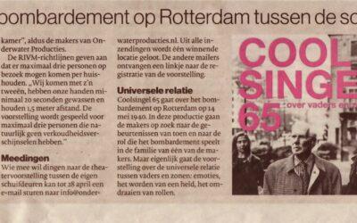 Theater over bombardement op Rotterdam tussen de schuifdeuren